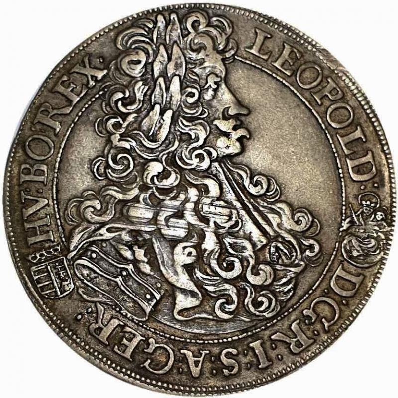 obverse: REGNO DI UNGHERIA - LEOPOLD I Kremnitz 1703 (31mm, 7,11g, 12h) AU