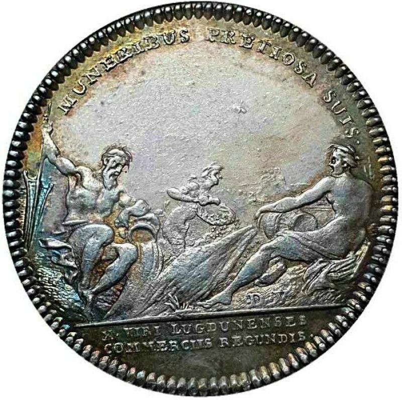 obverse: Francia Jeton AR 28, États de Rennes Date: 1754 Metal : silver Diameter : 28 mm SPL