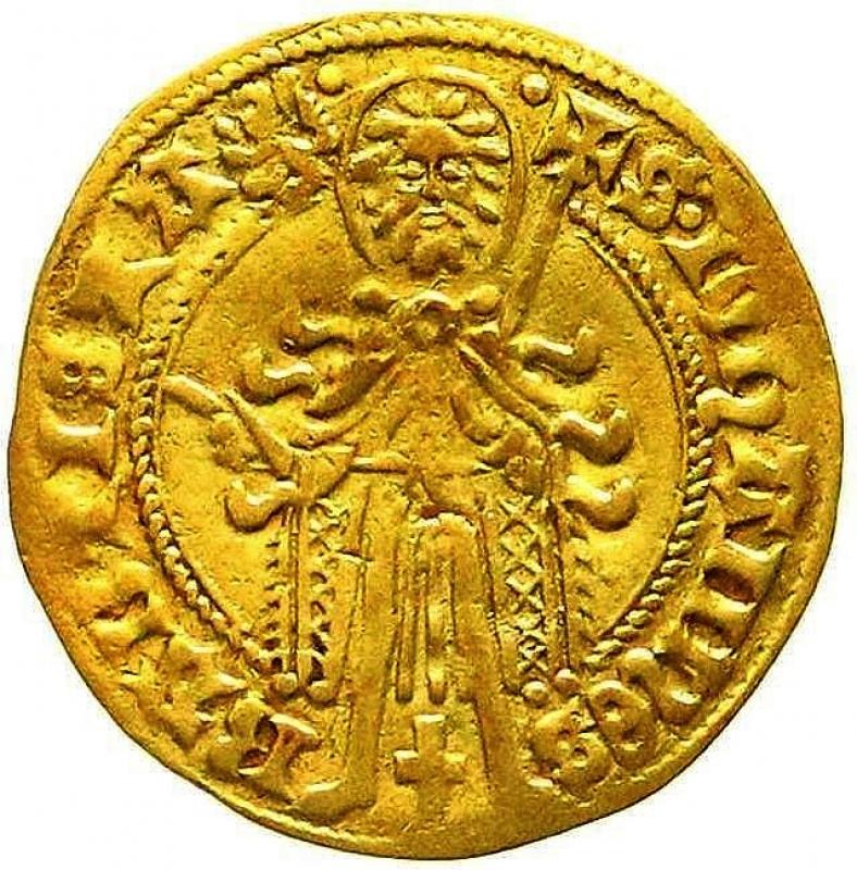 obverse: Paesi Bassi. Gelderland, Ducato, Arnold von Egmond, 1423-1472 Fiorini d oro senza data 3,04 Raro.