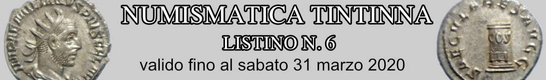 Banner Tintinna listino di vendita n. 6