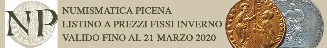 Banner Numismatica Picena - Listino a prezzi fissi inverno 2020