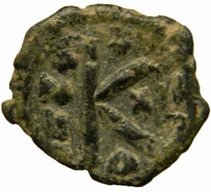 reverse: Bizantini. Eraclio (610-641). Mezzo follis, Costantinopoli. D/ Eraclio ed Eraclio Costantino stanti di fronte. R/ Grande K. Anno XX. D.O. 118. AE. g. 6,00.BB.=