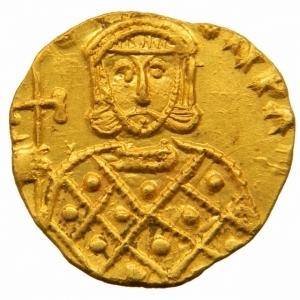 obverse: Bizantini. Costantino V. 741-775 d.C. Solido. AU. Siracusa. D/ [CON]TAN LE[ON]. I busti di fronte di Costantino V e Leone IV, che indossano corona e clamide. Sopra croce. R/ [GNO LEO] N PAM. Il busto di fronte di Leone III che indossa corona e loros e tiene croce potenziata. D.O. 15. Sear 1565. Peso 3,75 gr. Diametro 22,00 mm. SPL+.Fondi a specchio= Ex Tintinna 83 lotto 620 aggiudicato ma non pagato