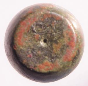 obverse: Impero Bizantino .Peso a forma di globo con lettera C AE. Peso 51,90 gr .BB. RRR.