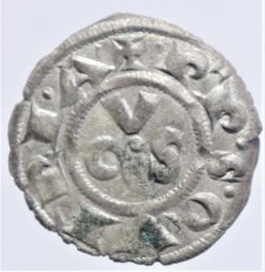 obverse: Zecche Italiane. Ancona. Repubblica monetazione autonoma. Denaro XII e XIII secolo.Peso 0,60 gr. BB+