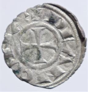 reverse: Zecche Italiane. Ancona. Repubblica monetazione autonoma. Denaro XII e XIII secolo.Peso 0,60 gr. BB+