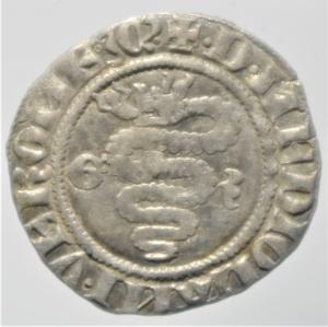 reverse: Zecche Italiane.Milano. Bernab e Galeazzo Visconti (1354-1378). Sesino. D\ Croce patente R\Biscione.Cr. 5. AG. g. 1.05.BB+.