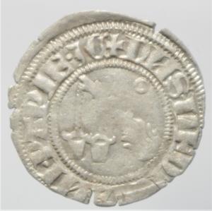 reverse: Zecche Italiane. Milano. Galeazzo Visconti. 1355-78. Sesino. Ag. D/ Cimiero R/Tizzone con 2 secchie .CNI 13\19. Peso gr. 0,90 Diametro mm. 21,00. qSPL.