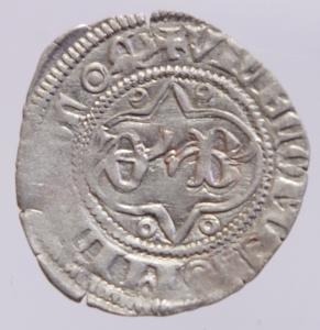 obverse: Zecche Italiane. Milano. Barnab Visconti. 1378-1385. Sesino. AG.G.B. Cr. 5/A. Peso gr. 0,95. BB+.