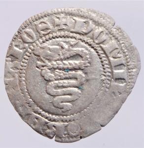reverse: Zecche Italiane. Milano. Barnab Visconti. 1378-1385. Sesino. AG.G.B. Cr. 5/A. Peso gr. 0,95. BB+.