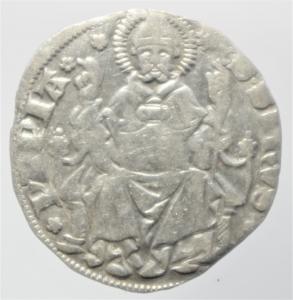 obverse: Zecche Italiane. Pavia. Galeazzo II Visconti. 1359-1378. Grosso da un soldo e mezzo.Peso 2,50 gr. Ag. Cast.1. BB+. R.