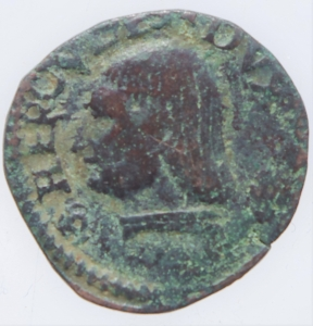 obverse: Zecche Italiane. Reggio Emilia. Bagattino Ercole I. 1471-1505. MIR 1268. Peso 1,90 gr. Diametro 15,47 mm. BB+. NC.
