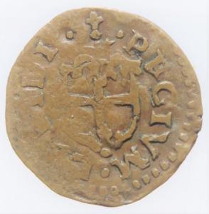 reverse: Zecche Italiane.Reggio Emilia (1471-1505) Ercole D  Este.Bagattino con busto giovanile ( NC MIR 1267 CU mm 16 g. 1,98 MB-BB. Ex Asta Aurora 1 lotto 425