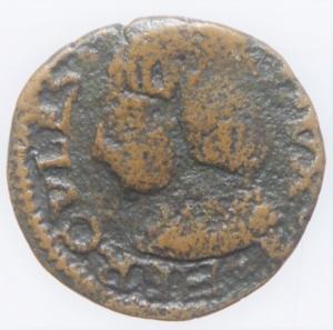 obverse: Zecche Italiane.Reggio Emilia (1471-1505). Bagattino con busto virile Ercole dEste (1471-1505).NC MIR 1268 CU mm 16 g. 1,77 .MB. Ex Asta Aurora 1 lotto 426