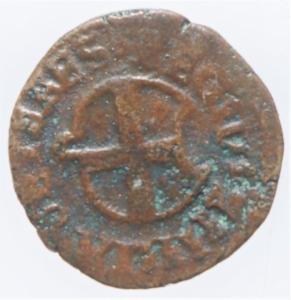 reverse: Zecche Italiane. Reggio Emilia .Ercole II dEste (1534-1559) Bagattino con ritratto e stemma RR MIR 1328 CU mm 17 g. 0,82 MB+. Ex Asta Aurora 1 lotto 443