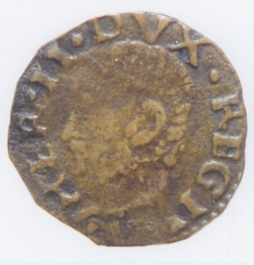 obverse: Zecche Italiane.Reggio Emilia (1534-1559) Ercole II dEste (1534-1559) Bagattino con ritratto e B. Vergine MIR 1333 CU mm 15 g. 0,61 MB+. Ex Asta Aurora 1 lotto 445