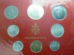 obverse: Citt del Vaticano. Paolo VI. Serie 1973 in confezione. GG