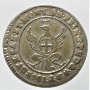 reverse: Casa Savoia .Carlo Emanuele III (1730-1773). 2,6 soldi 1758. MI.Peso 2,65 gr. BB. Intonso. Patina