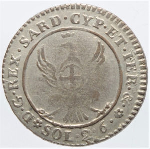 reverse: Casa Savoia. Carlo Emanuele IV (1796-1802).2,6 soldi 1799. Peso 2,50 gr. R.Pagani 8. MI. BB+.