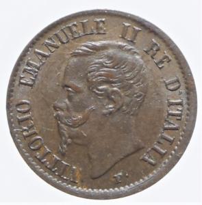 obverse: Casa Savoia. Vittorio Emanuele II. 1861-1878. 1 Centesimo 1862 Napoli. Gig.114 .NC.R.SPL