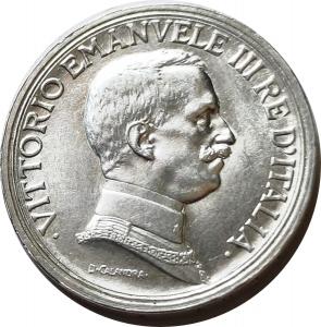 obverse: Casa Savoia. Vittorio Emanuele III. 2 lire 1915. qFDC. Ag. rf
