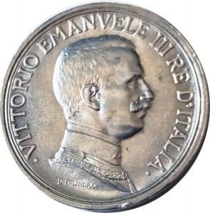 obverse: Casa Savoia. Vittorio Emanuele III. 2 lire 1917. qFDC. Ag. NC. rf