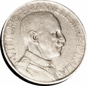 obverse: Casa Savoia. Vittorio Emanuele III. 2 lire 1926. R. rf