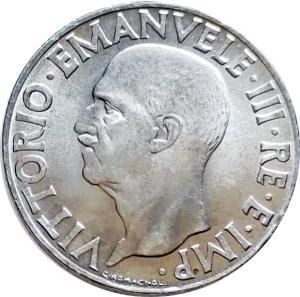 obverse: Casa Savoia. Vittorio Emanuele III. 1 Lira 1943. qFDC/FDC. R. rf