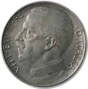 obverse: Casa Savoia. Vittorio Emanuele III. 50 centesimi 1921 C/ rigato. Conservazione superiore alla media. rf