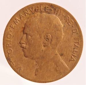 reverse: Casa Savoia. Vittorio Emanuele III. 2 Centesimi 1908 Italia su prora. Gig 298. BB+. R.