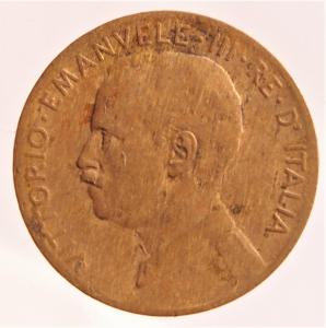 obverse: Casa Savoia. Vittorio Emanuele III. 2 Centesimi 1908 Italia su prora. MB. R.