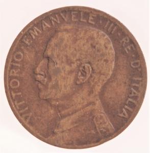 obverse: Casa Savoia. Vittorio Emanuele III. 1900-1943. 2 Centesimi 1909. AE. Gig. 299.BB.