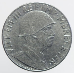 reverse: Casa Savoia. Vittorio Emanuele III. Albania 0,20 Lek 1940 anno XVIII.BB+