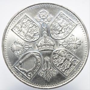 reverse: Monete nel Mondo.Gran Bretagna.Five Shilling 1953.Ar.SPL