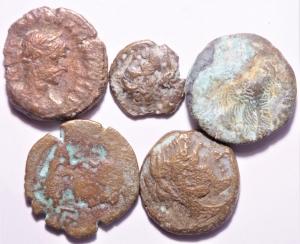 obverse: Lotti.Impero Romano.Lotto di 5 monete alessandrine, mediamente MB.