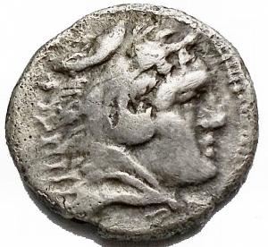 obverse: Mondo Greco - Illiria.DYRRACHIUM. ca 300-200 ac. Dracma Ag. gr 1,87. mm 14,17. d/ Ercole a ds r/ Pegaso a ds. BB-SPL