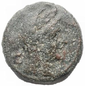 obverse: Mondo Greco -Apulia, Luceria.Biunx, ca. 211-200.D/ Testa di Ceres a destra. Dietro, due globetti.R/ Conchiglia.HN (Italy) 681.AE.g 6,73.mm 18,34.qBB/BB. Patina verde marrone