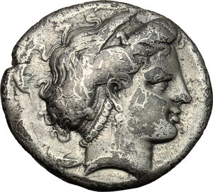 obverse: Central and Southern Campania, Neapolis. AR Didrachm, c. 300 BC