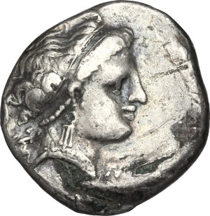 obverse: Central and Southern Campania, Neapolis. AR Didrachm, circa 300-275 BC