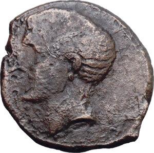 obverse: Northern Apulia, Canusium. AE 22 mm. c. 250-225 BC