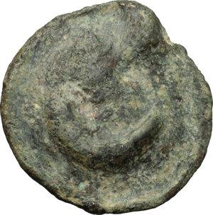 obverse: Northern Apulia, Luceria. AE Semuncia, c. 217-212 BC