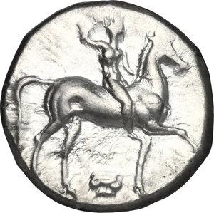 obverse: Southern Apulia, Tarentum. AR Nomos, 332-302 BC