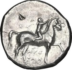 obverse: Southern Apulia, Tarentum. AR Nomos, 302-280 BC