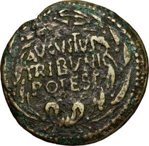 obverse: Augustus (27 BC - 14 AD).. AE Dupondius, 16 BC