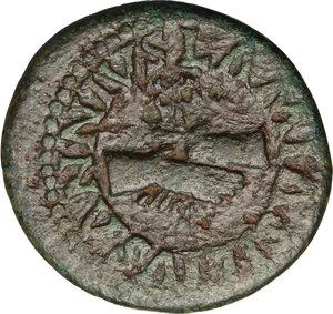 obverse: Augustus (27 BC - 14 AD).. AE Quadrans, 9 BC