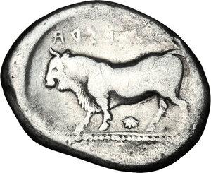 reverse: Lucania, Poseidonia-Paestum. AR Stater, 420-410 BC