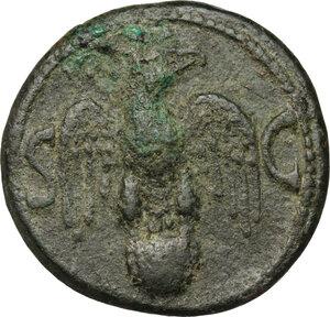 reverse: Augustus (27 BC - 14 AD).. AE As, struck under Tiberius, 34-37