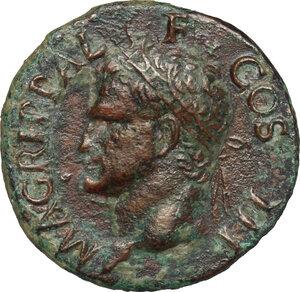obverse: Agrippa (died 12 BC).. AE As, struck under Caligula, 37-41