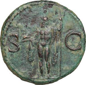 reverse: Agrippa (died 12 BC).. AE As, struck under Caligula, 37-41