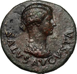 obverse: Tiberius (14-37 AD).. AE Dupondius, 22-23